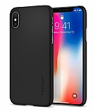 Spigen Thin Fit iPhone X Siyah Rubber Kılıf