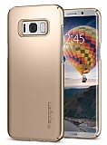 Spigen Thin Fit Samsung Galaxy S8 Plus Gold Maple Rubber Kılıf