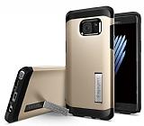 Spigen Tough Armor Samsung Galaxy Note FE Gold Kılıf