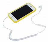 Spiral Kablolu Tekli Mikrofonlu Telefon Kulakl���