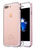 Sulada iPhone 7 Plus Metal Bumper Çerçeve Rose Gold Kılıf