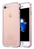Sulada iPhone 7 Metal Bumper Çerçeve Rose Gold Kılıf