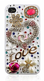 Swarovski Ta�l� iPhone 4 / 4S Love Rubber K�l�f