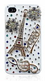 Swarovski Ta�l� iPhone 4 / 4S Paris Rubber K�l�f