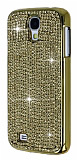 Eiroo Glows Samsung i9500 Galaxy S4 Ta�l� Gold Rubber K�l�f