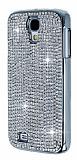 Eiroo Glows Samsung i9500 Galaxy S4 Ta�l� Silver Rubber K�l�f