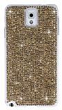 Swarovski Ta�l� Samsung N9000 Galaxy Note 3 Gold Rubber K�l�f