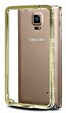 Taşlı Samsung N9100 Galaxy Note 4 Bumper Çerçeve Gold Kılıf