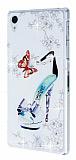 Swarovski Ta�l� Sony Xperia Z1 Topuklu Ayakkab� Rubber K�l�f