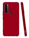 TCL 20 SE Mat Kırmızı Silikon Kılıf