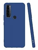 TCL 20 SE Mat Lacivert Silikon Kılıf