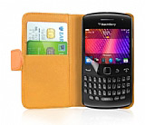 Samsung Galaxy W i8150 Turuncu Yan C�zdanl� K�l�f