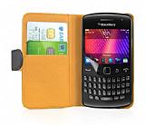 Nokia Asha 311 Siyah Yan C�zdanl� K�l�f