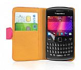 Nokia Asha 311 Pembe Yan C�zdanl� K�l�f