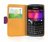 Nokia Asha 311 Mor Yan C�zdanl� K�l�f
