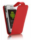 Nokia N8 K�rm�z� Kapakl� Deri K�l�f