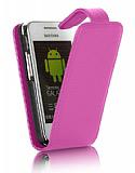 Nokia Asha 311 Pembe Kapakl� Deri K�l�f