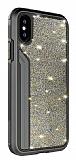TGViS Luxury Diamond iPhone X / XS Ultra Koruma Siyah Kılıf