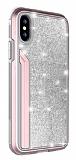 TGViS Luxury Diamond iPhone X / XS Ultra Koruma Rose Gold Kılıf