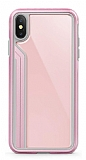 TGViS Luxury iPhone X / XS Ultra Koruma Cam Pembe Kılıf