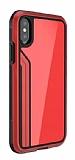 TGViS Luxury iPhone X / XS Ultra Koruma Cam Kırmızı Kılıf