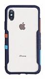 TGViS Vibrant iPhone XS Max Ultra Koruma Lacivert Kılıf
