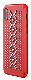 TGViS Welkin iPhone X / XS Ultra Koruma Kırmızı Deri Kılıf