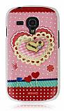 Tongkeun Samsung i8190 Galaxy S3 mini Kalp Ta�l� Rubber K�l�f