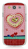 Tongkeun Samsung i9300 Galaxy S3 Kalp Ta�l� Rubber K�l�f