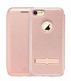 Totu Design Acme Series iPhone 7 / 8 Standlı Kapaklı Rose Gold Kılıf