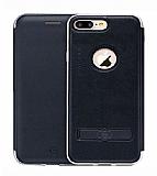 Totu Design Acme Series iPhone 7 Plus / 8 Plus Standlı Kapaklı Siyah Kılıf