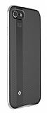 Totu Design Blade iPhone 7 / 8 Silver Metal Kenarlı Silikon Kılıf
