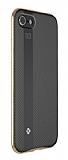 Totu Design Blade iPhone 7 Plus / 8 Plus Metal Kenarlı Gold Silikon Kılıf
