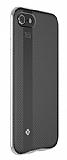 Totu Design Blade iPhone 7 Plus / 8 Plus Silver Metal Kenarlı Silikon Kılıf