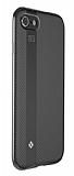 Totu Design Blade iPhone 7 Plus / 8 Plus Siyah Metal Kenarlı Silikon Kılıf