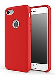 Totu Design Brilliant Series iPhone 7 / 8 Kırmızı Silikon Kılıf