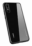 Totu Design Crystal Serisi Huawei P20 Pro Siyah Silikon Kenarlı Şeffaf Kılıf