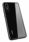 Totu Design Crystal Serisi Huawei P20 Siyah Silikon Kenarlı Şeffaf Kılıf