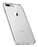 Totu Design Crystal Shield iPhone 7 Plus / 8 Plus Silikon Kenarlı Şeffaf Kılıf