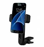 Totu Design CT04 Samsung Galaxy S7 Edge Siyah Araç Havalandırma Tutucu