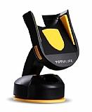 Totu Design CT12 Universal Vantuzlu Sarı Telefon Tutucu