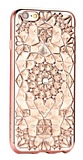 Totu Design Diamond iPhone 6 / 6S Rose Gold Kenarl� Ta�l� �effaf Silikon K�l�f