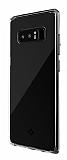 Totu Design Fairy Samsung Galaxy Note 8 Silikon Kenarlı Şeffaf Rubber Kılıf