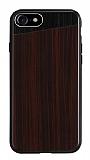 Totu Design iPhone 7 Ahşap Koyu Kahverengi Rubber Kılıf