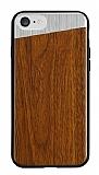 Totu Design iPhone 7 Ahşap Kahverengi Rubber Kılıf