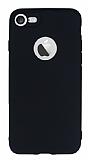 Totu Design iPhone 7 Kamera Korumal� Siyah Silikon K�l�f