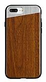 Totu Design iPhone 7 Plus / 8 Plus Ahşap Kahverengi Rubber Kılıf
