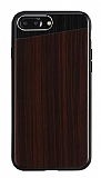 Totu Design iPhone 7 Plus Ahşap Koyu Kahverengi Rubber Kılıf