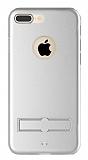 Totu Design Jaeger II iPhone 7 Plus Standlı Alüminyum Silver Kılıf