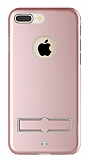 Totu Design Jaeger II iPhone 7 Plus Standlı Alüminyum Rose Gold Kılıf